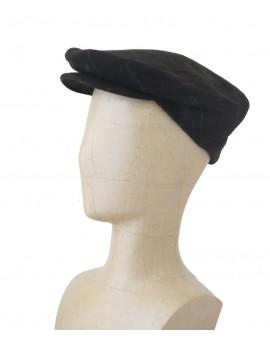 Vue générale - Casquette anglaise en laine vert brun