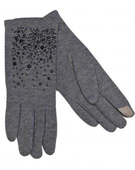Gants hiver femme coton gris