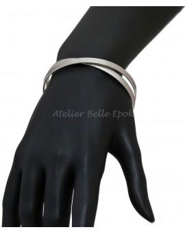 Bracelet Jonc lisse et motifs géométriques