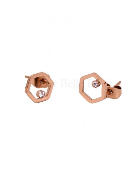 Boucles d'oreilles IKITA hexagonales