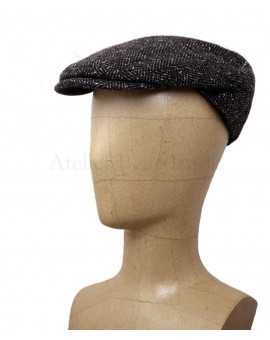 Casquette plate (anglaise) Tweed marron