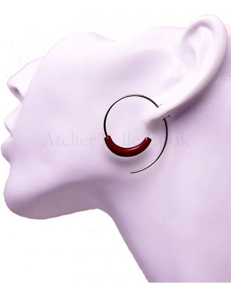 Boucles d'oreilles IKITA spirale
