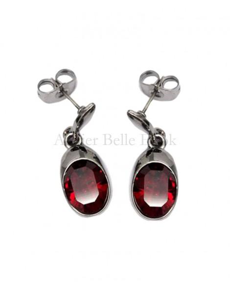 Boucles d'oreilles BOHM SW Siam (Rouge)