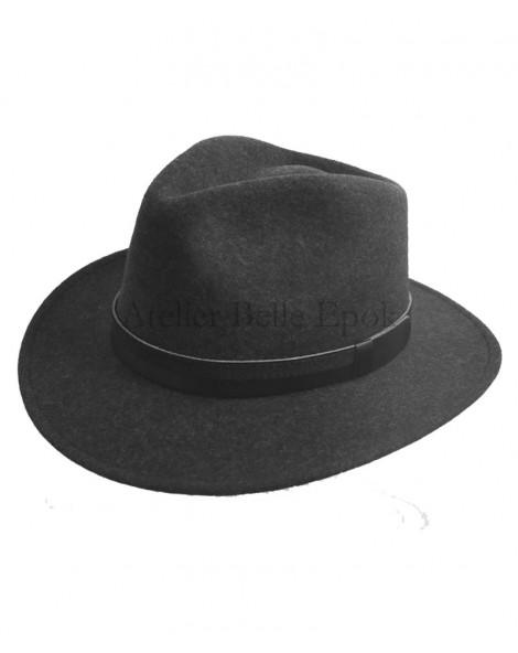 Chapeau Feutre laine Anthracite