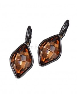 Boucles d'oreilles BOHM SW Light smoked topaz